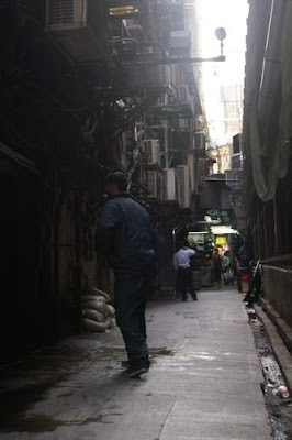 Image of the alley, proper, in Kowloon, Hong Kong, near my house.