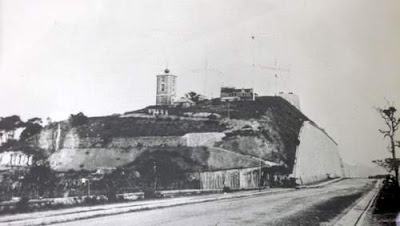 Image of the old Signal Tower, built in 1907 on top of Beacon Hill, in Hong Kong.