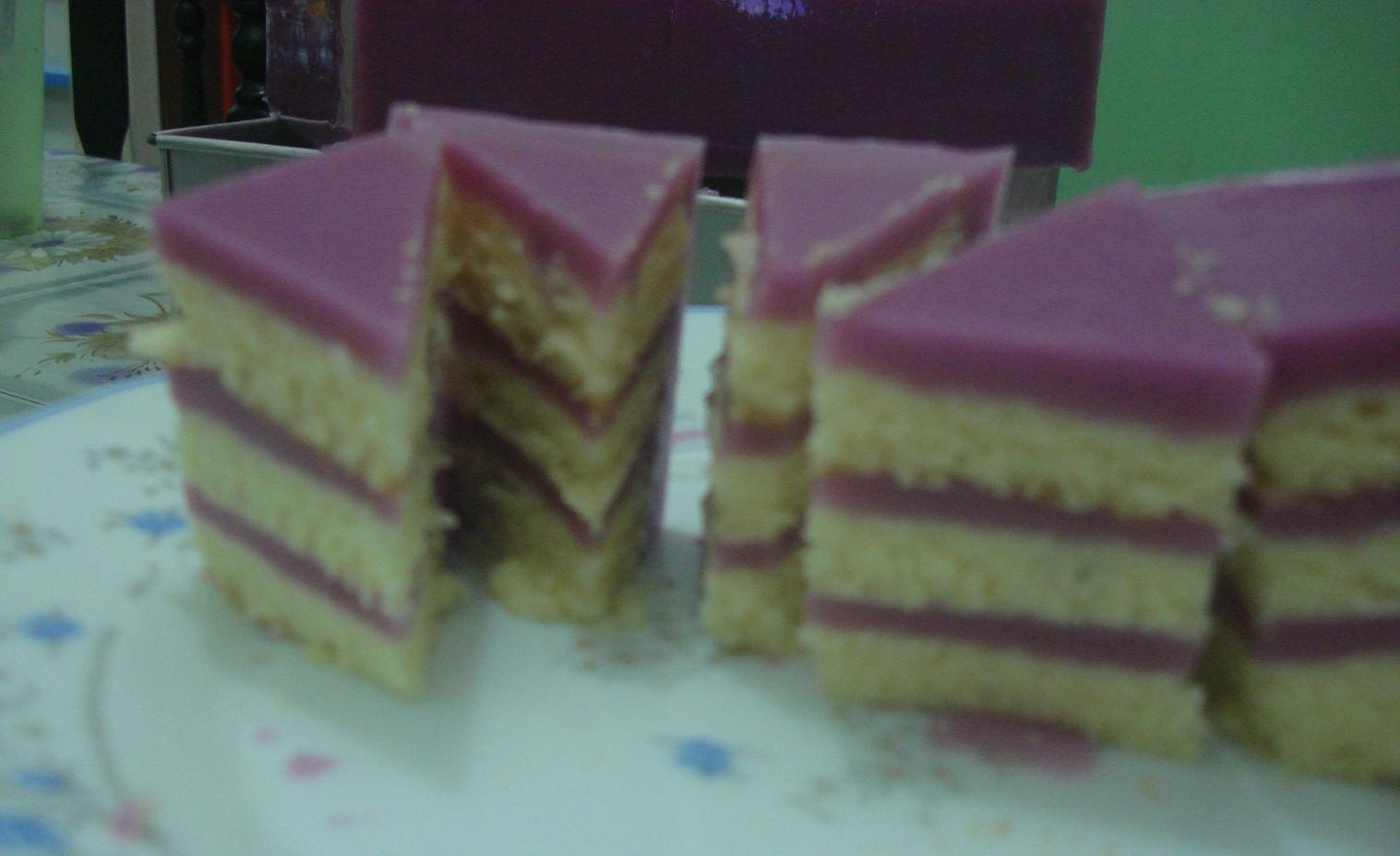 Yam Layer Cake Resepi