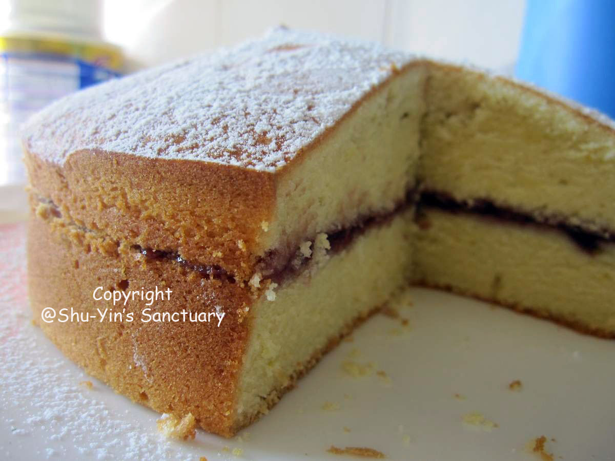 Yellow Cake with Raspberry Jam Filling