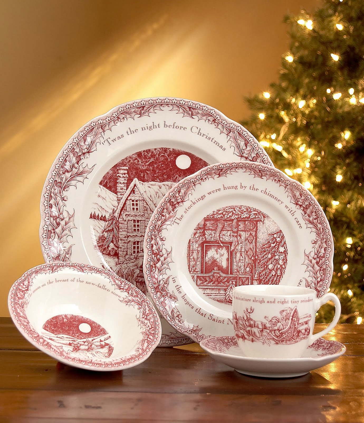 Johnson Bros Christmas Dishes