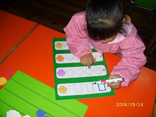 para trazar números, letras, guirnaldas con plumón de pizarra