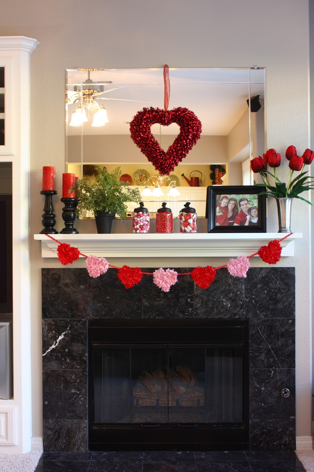 valentine mantel and tissue art the sunny side up blog