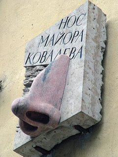 Monument to the Nose in St.Petersburg