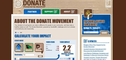 Goodwill Industries Launches Online Donation Impact