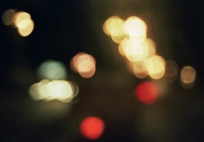 Luces en la noche por las carreteras del Cauca. Junio 2008