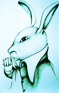 White Rabbit ponders arrangements