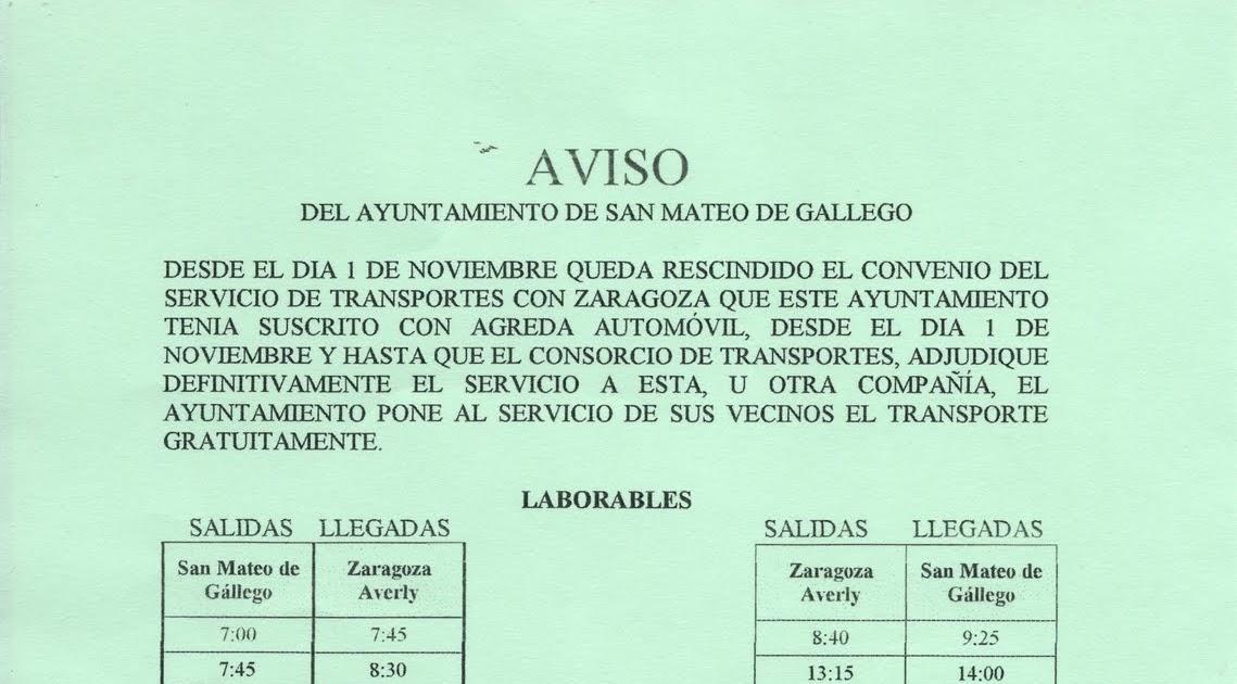 El blog de san mateo de g llego horario de autobuses - El tiempo en san mateo de gallego ...