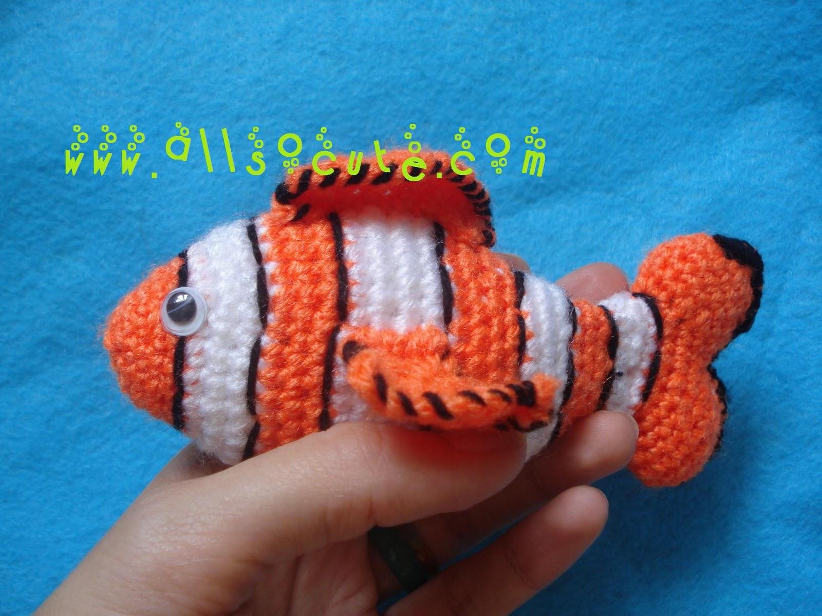 AllSoCute Amigurumis: Amigurumi Clown Anemonefish Nemo