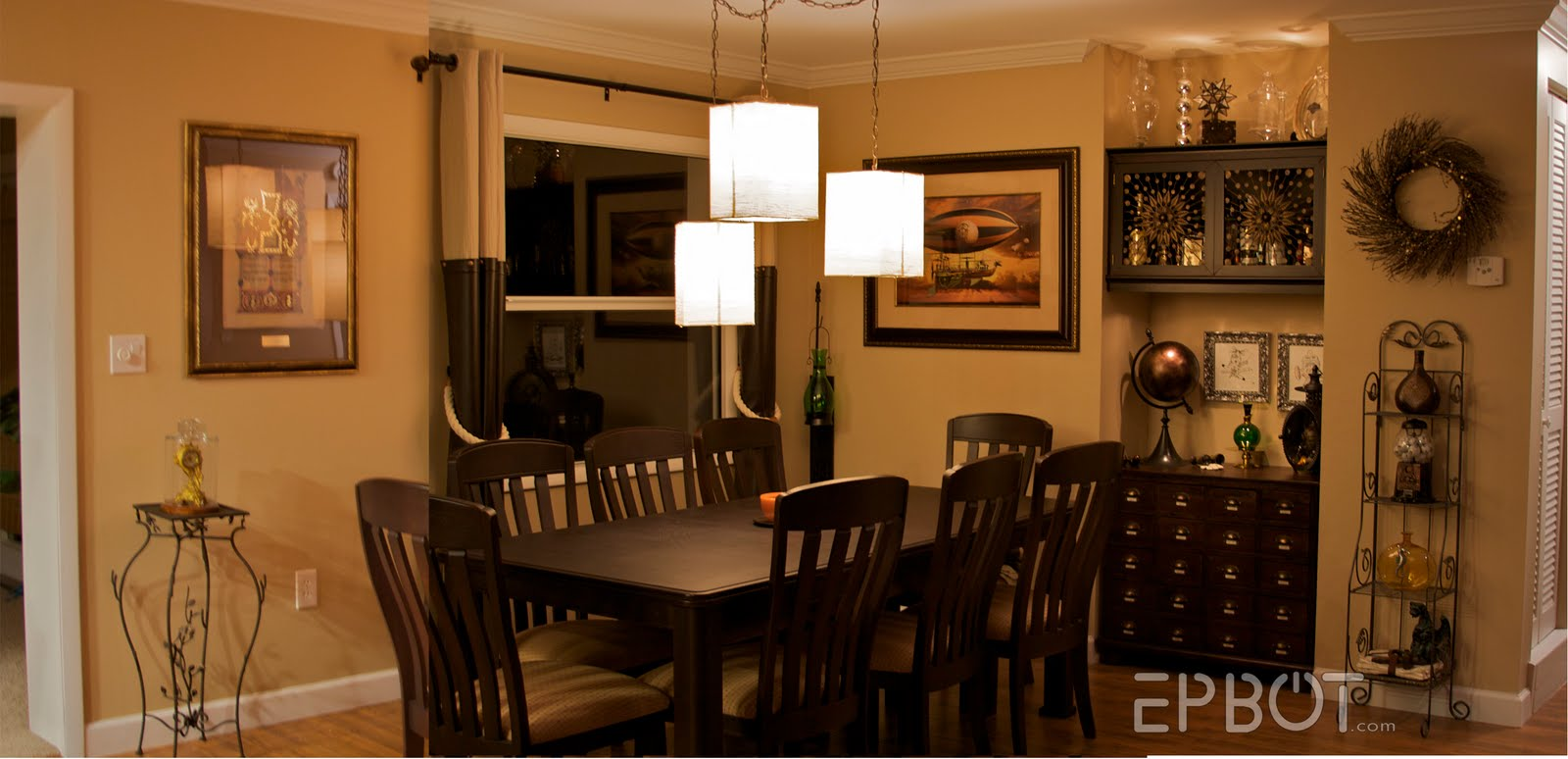 Epbot my steampunk dining room for Dining room or dinning room