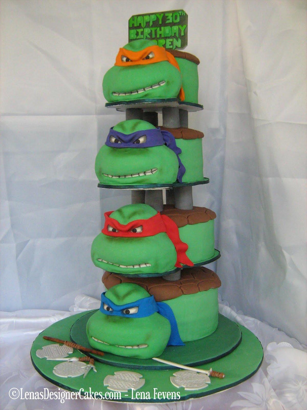 Торт из черепашек ниндзя