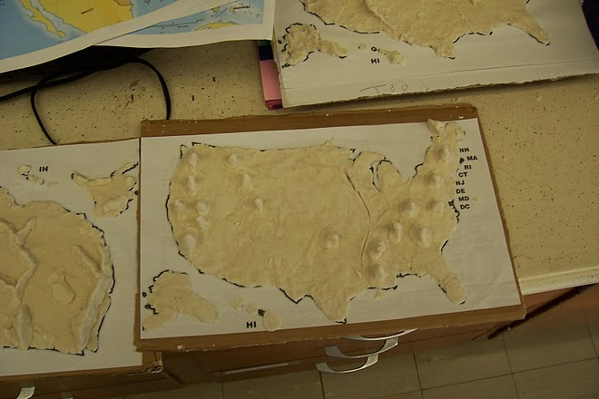 Welcome to the Wonderful World of 3rd Grade!: Our Salt Dough Maps ...