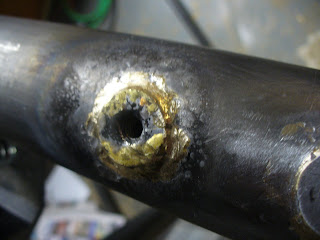 Brazed in seat mount