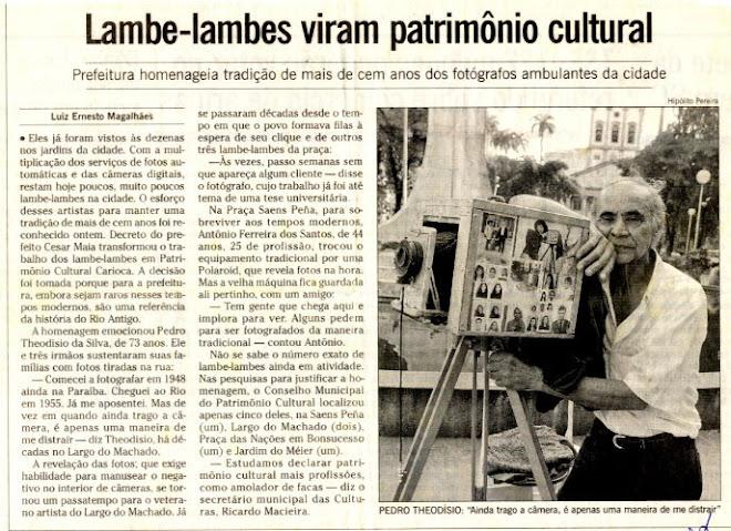 O Fotógrafo Lambe Lambe no Largo do Machado.