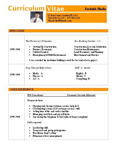 Curriculum Vitae Basico Para Completar