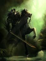 рыцарь на коне с длинным мечом