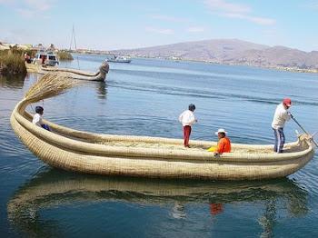 Medios de tansporte del Lago Titicaca