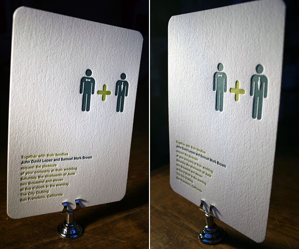 ... into same-sex wedding invitations (I also had that idea for Little Yeti, ...