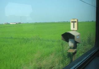 Junasta kuvattua