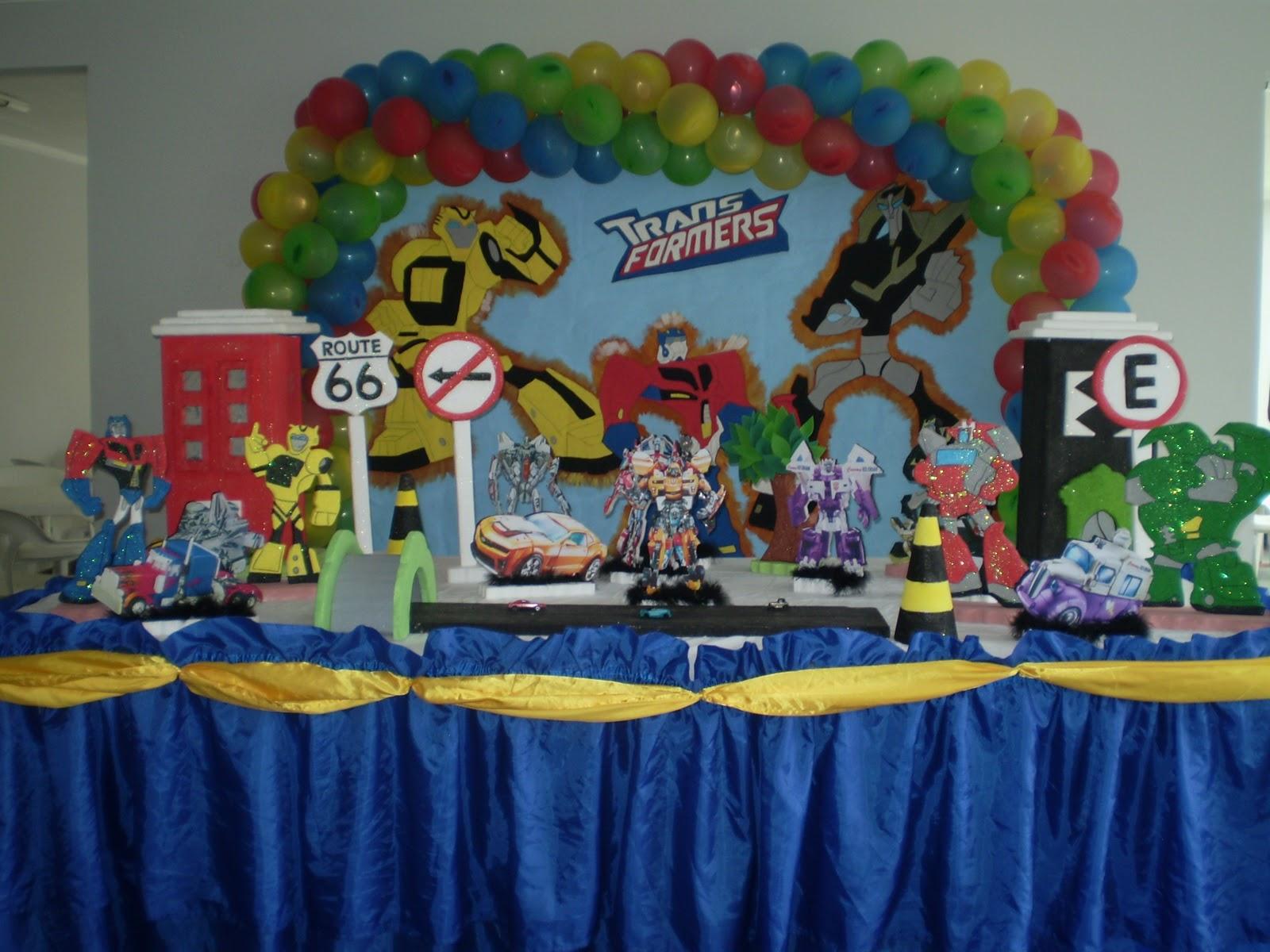 Artdeia Decoração de Festas Infantis Decoração Transformers