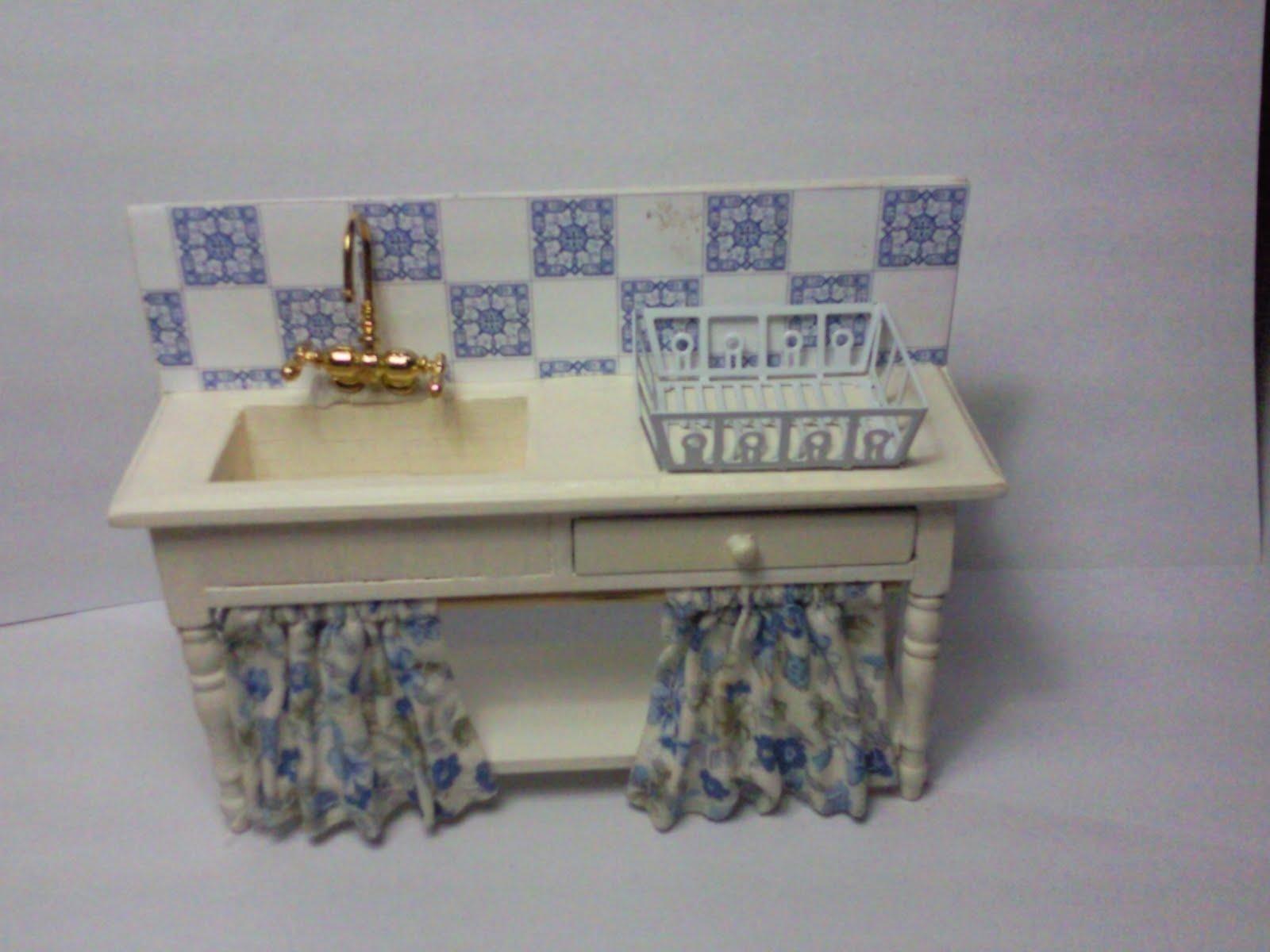 Mis trabajos en miniatura de lavabo de ba o a pila de cocina - Lavabo para cocina ...