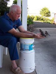 Lloyd with bluebirds
