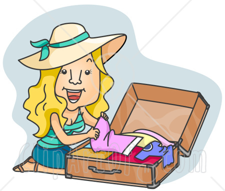 RFID Packing Application Packing Luggage Clipart