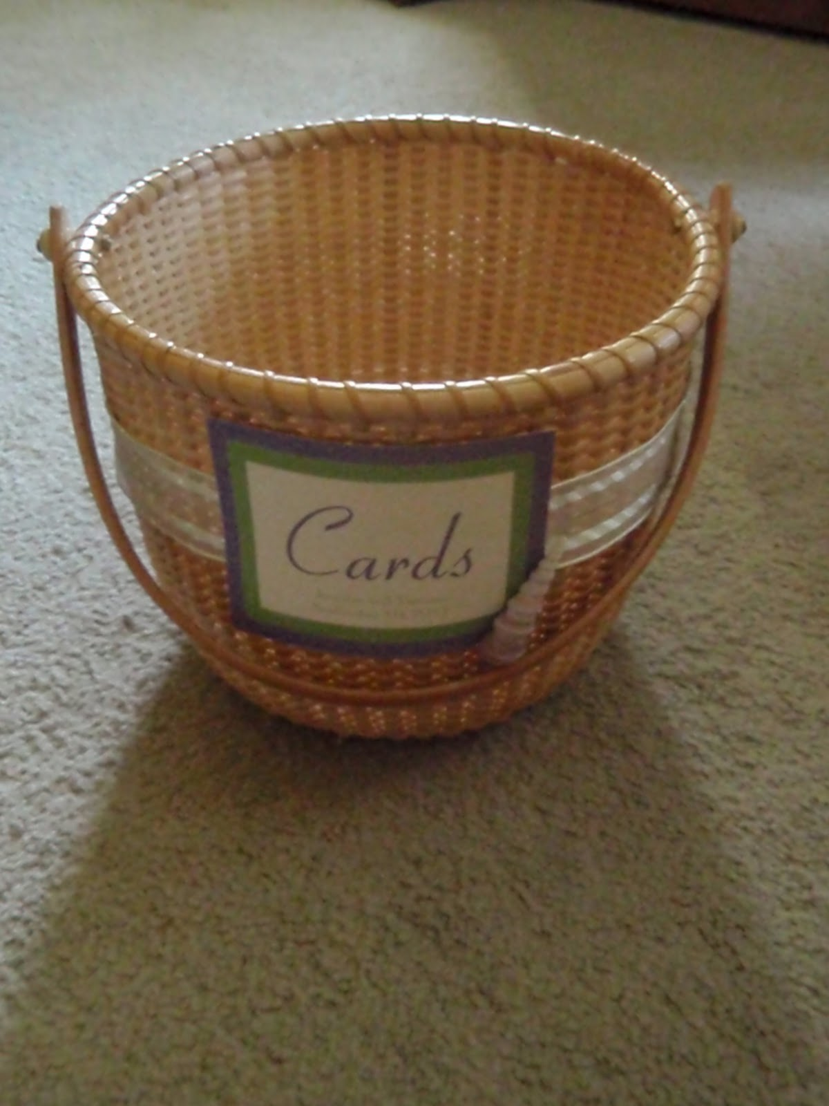 Basket For Wedding Gift Cards : ... Day (In the Making): DIY Card Basket and Preventing Wedding Gift Theft