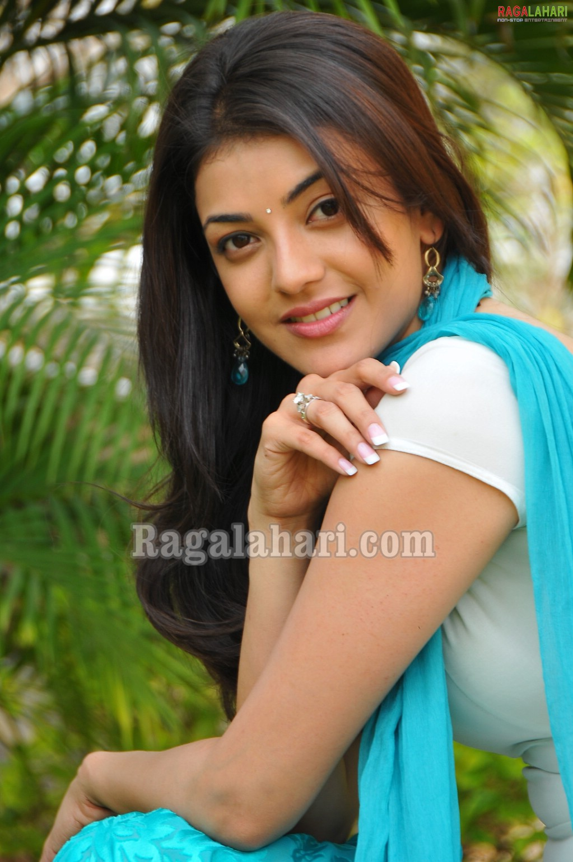 shopholic-addiction: tamil actress kajal agarwal cute blue dress