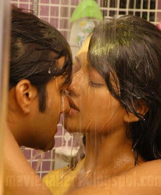 she is set wet in these stills she has worn a wet towel in order to tempt tarun hot lip lock scenes unseen bathroom kissing liplock stills