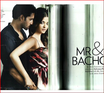 Aishwarya Rai and Abhishek Bachchan hot still on Vogue Magazine