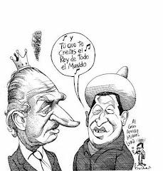 Uribe y el Rey huelen a azufre.Chávez dijo que abrazará al rey pero no aceptaré callarme.