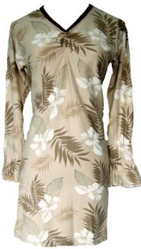 AQ173A LIGHT BROWN FLORAL SIZE ( XS,M, L,XL,2XL(+RM3.00)