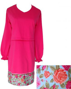 AM13 D.PINK FL PK (S-XL) - Nursing Blouse
