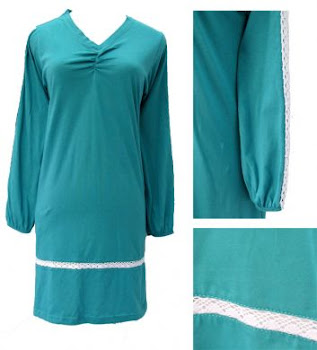 AQ251A TUR-GREEN/BLUE (XS-2XL) - MUSLIMAH T SHIRT