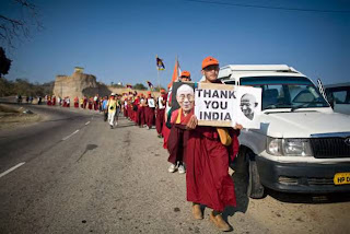 44 Tibetans continues peaceful march to Tibet from India despite earlier arrest of 101 monks