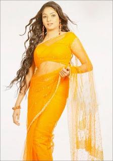Lakshana in Yellow Saree