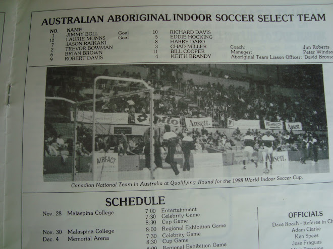 Australia National Aboriginal Team Coached by Jim Robert