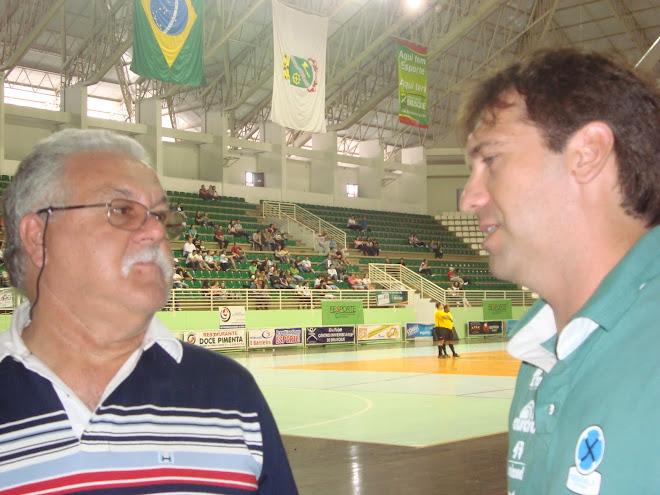 FIFA Olympic Futsal Next: Coach Popioski and Futsal Catarinense Presidente. Joao Carlos  de Sousa
