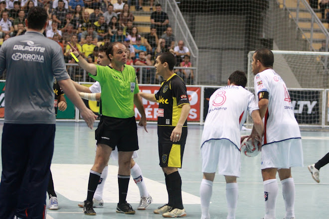 "FIFA futsal Referee Michel Jean Bonnaud:  ""you will be gone to the shower on the next foul"""