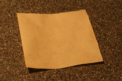 Form a cone out of a piece of coffee filter paper