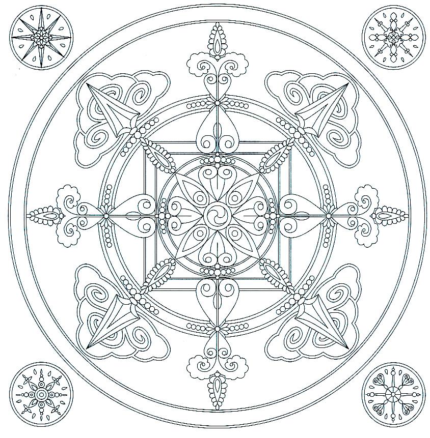 Phytospiritualit mandala du flocon de neige colorier - Flocon de neige a colorier ...