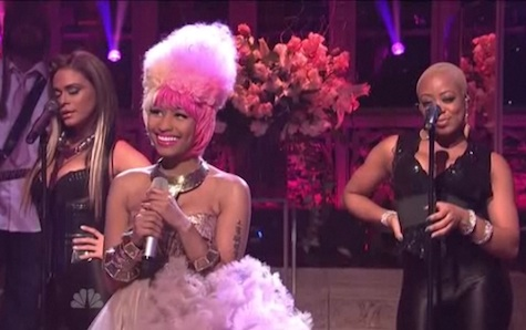 Nicki Minaj was the musical guest January 29, 2011 on Saturday Night Live.