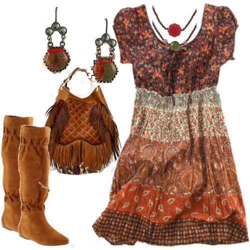 Outfits de moda me tomo cinco minutos estilo boho chic - Estilo boho chic ...