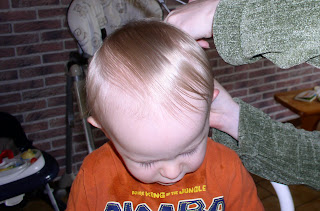 Benjamin's first haircut