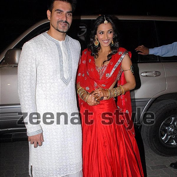 Arbaaz Khan And Malaika Arora At Amrita's Wedding