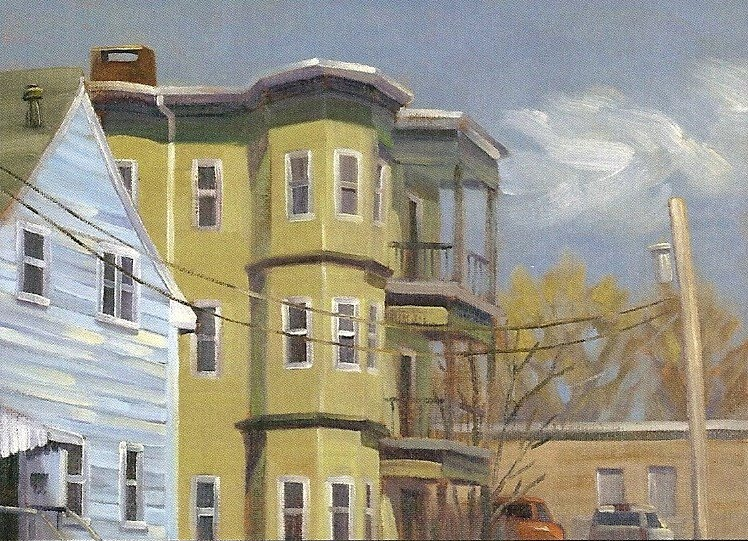 """Brockton Tripledecker"" 9""x12"" oil on canvasboard  $350 *SOLD*"