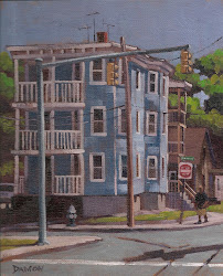 """Brockton corner"" 8x10 oil on canvasboard SOLD"