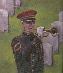 """ Bugler"" 11x14 oil on canvas board SOLD"