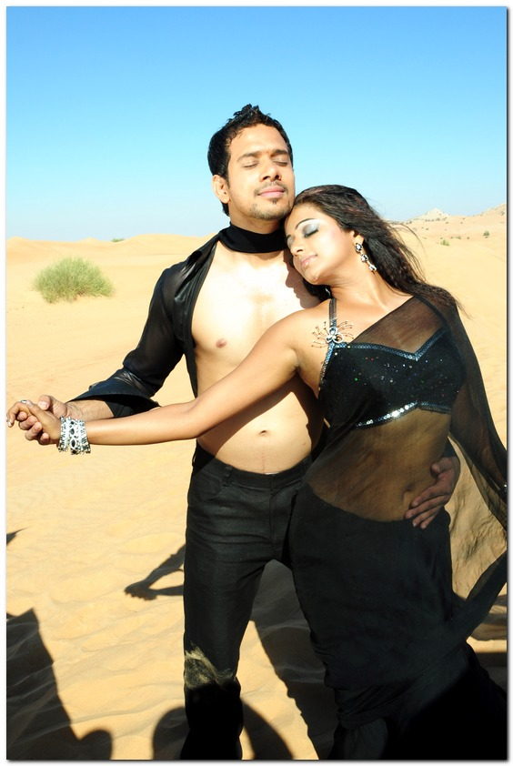 Priyamani Hottest Hot Pics in Black Saree - Movie Song